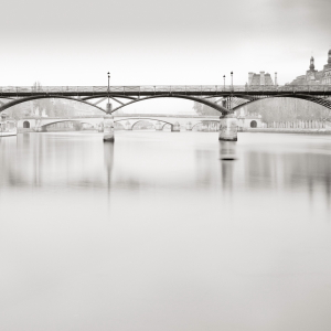 Pont des arts , waterscape, long exposure, square, study III, Louvre , Paris , France